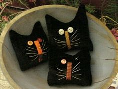 Primitive Kitty Cat Halloween Herbst Bowl Fillers primitive Katzen … … – The World Halloween Quilts, Halloween Cat, Country Halloween, Cat Crafts, Crafts To Make, Wood Crafts, Softies, Recetas Halloween, Wooly Bully