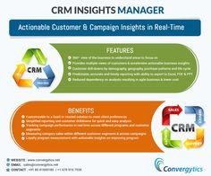 Our 'CRM Insights Manager'– Actionable Customer & Campaign Insights in Real-Time https://www.facebook.com/convergytics/photos/a.827646897268784.1073741830.688385334528275/857370877629719/?type=1&theater