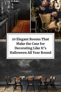 10 Elegant + Moody Rooms That Make the Case for Decorating Like It's Halloween All Year Round Halloween Home Decor, Halloween House, Modern Interior Design, Interior Ideas, Interior Decorating, Ade, All Year Round, World Crafts, Modern Victorian