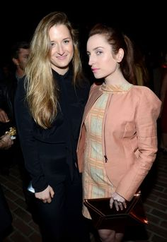 "Grace Gummer (L) and Zoe Lister-Jones attend Vanity Fair and Juicy Couture's Celebration of the 2013 ""Vanities"" Calendar hosted by Vanity Fair West Coast Editor Krista Smith and actress Olivia Munn in support of the Regional Food Bank of Oklahoma, a member of Feeding America, at the Chateau Marmont on February 18, 2013 in Los Angeles, California."