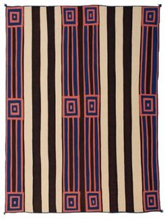 Portfolio of Navajo Blankets :: Roswell Museum Native American Blanket, Native American Rugs, Native American Design, Native Design, Navajo Weaving, Navajo Rugs, Textile Patterns, Textile Art, Print Patterns