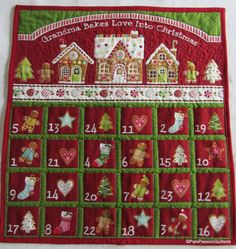 Advent Calendar Quilted Christmas by PatsPassionQuilteds on Etsy