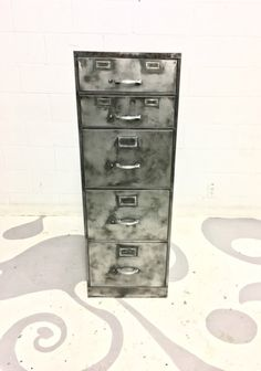 Vintage hand brushed file cabinets, filing cabinet with urban twist School lockers industrial furniture