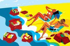 """""""Las lecturas del verano son como islas por descubrir"""" (ilustración: Joao Fazenda)"""