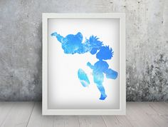 Ponyo Inspired Watercolor Print Poster Wall Art by TheRaesPrints