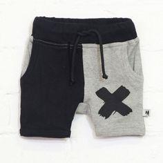 Milk & Masuki Shorts black & grey cross
