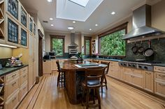A well-appointed chef's kitchen with top of the line features!