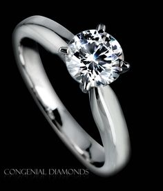 Classic 4 claw engagement ring