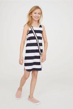 Sukienka bez rękawów - Biały/Paski - Dziecko | H&M PL 1