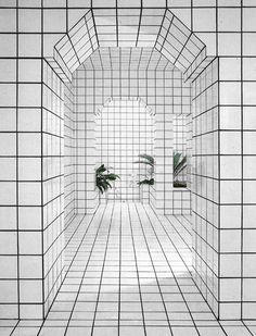 In Jean-Pierre Raynaud opened La Maison de La Celle-Saint-Cloud in Paris, a house and art installation comprised entirely of white tiles. Design Set, House Design, Wall Design, Modern Design, Interior Architecture, Interior And Exterior, Retail Interior, Les Gobelins, Saint Cloud