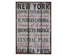Obraz New York cm Frame Wall Decor, Metal Wall Decor, Frames On Wall, Wall Décor, New York Decor, Boxwood Plant, New York Landmarks, Elephant Wall Decor, Wing Wall