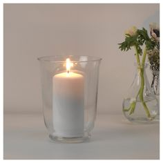 IKEA POMP vase/lantern Dual function; can be used both as a vase and a lantern.