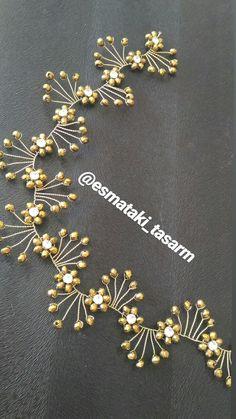 Özel günler için Hair Jewels, Hair Beads, Diy Hair Accessories Bridal, Hair Brooch, Mp5, Wedding Hair Pins, Beaded Crafts, Bridal Headpieces, Bead Art