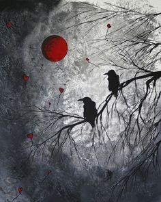 Abstract bird art