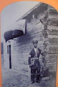 Iroquois man NY long house
