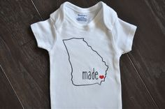 Made in Georgia onesie (all states available)