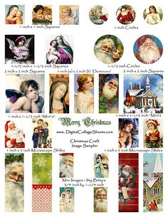 Christmas craft sampler sheet
