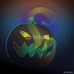 Vector: Halloween pumpkin #fotolia #halloween #party #spooky #night #party #candy #family #children #kids #fun #happy