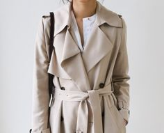 Chic Style - classic beige trench coat