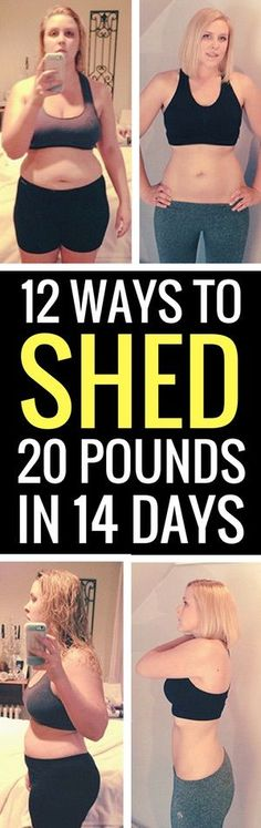 12 best ways to lose 20 pounds in 14 days.