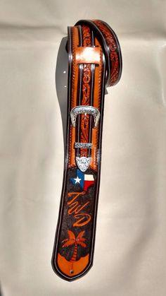Custom tooled leather guitar strap, hand tooled leather guitar strap, Custom Guitar strap