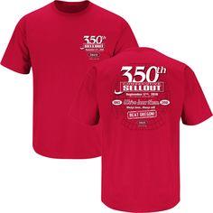 Sm-2X Red Ladies T-Shirt Smack Apparel Detroit Hockey Fans Straight Outta Detroit