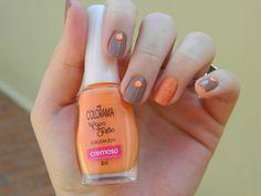 Nail art laranja e marrom #unhas #nails #esmalte #deunhasfeitas