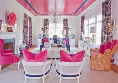 """Chances are if you love Palm Beach Chic interiors, you are a fan of Parker Kennedy Living. Based in Atlanta, co-founders Lance Jackson and David Ecton specialize in """"Preppy on the Edge""""… Palm Beach Decor, Home Interior, Interior Design, Interior Colors, Traditional Interior, Traditional Kitchens, My New Room, Cabana, Home And Living"""