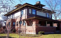 William Adams House. 1900. Chicago Illinois. Early Frank Lloyd Wright