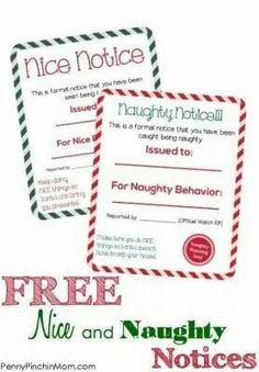Naughty and nice notes