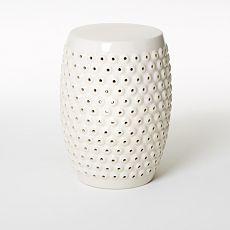 bubble ceramic side table - white | west elm (no longer available???)