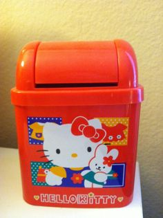 Vintage 90's Hello Kitty Trash Bin. Oh how I loved this as a little girl!