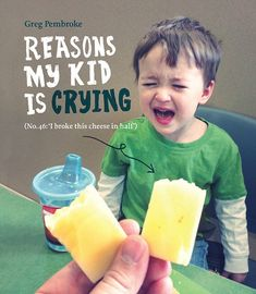 Tears and laughter: Greg Pembroke, the dad behind the hit Tumblr page Reasons My Son Is Crying, has turned his online photo project into a b...
