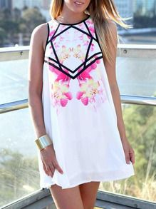 ad-print short dress US,Womens ad-print short dress US Sale -SheIn(Sheinside)