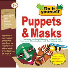 BPI PUPPETS & MASKS - Do It Yourself Kit for Kids Age 6+ . Learn Mask making. Includes Activity Book, Colours & Paint Brush, accessories for decoration, glue tube. Kids can make puppet masks with this kit and play wearing those masks with their friends. Can also be used in fancy dress competition in schools