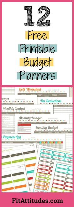 8 Free Printable Household Budget Templates! Free Printables