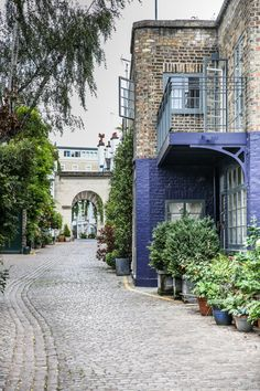 Houses in Kynance Mews, Kensington, London