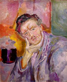 Self-portrait with hand under cheek by Edvard Munch (Norway) Amedeo Modigliani, Paul Gauguin, Mark Rothko, Pierre Auguste Renoir, Karl Schmidt Rottluff, James Ensor, Post Impressionism, Henri Matisse, Oslo