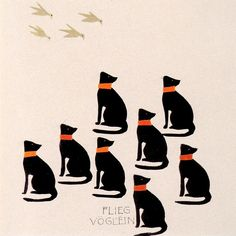 Illustration for a 1904 Picture Book by KOLOMAN MOSER  Moser was an Austrian graphic artist, painter, illustrator, printmaker, designer (stained glass, ceramics, porcelain, blown glass, tableware, silver, jewelry, furniture, textiles, etc.) - member of the Vienna Secession and co-founder of the Wiener Werkstatte.