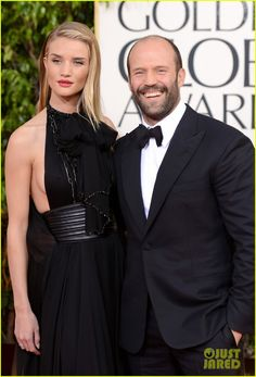 Rosie Huntington-Whiteley & Jason Statham - Golden Globes 2013 Red Carpet