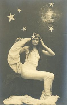 maudelynn:    Mermaid and the Moon  1910s postcard from my personal collection
