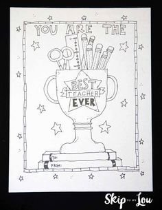 Best Teacher Coloring Page Teacher Favorite Things Student