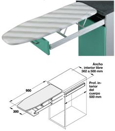 Fold Down Ironing Board Dimensions Sewing Room Design, Laundry Room Design, Bedroom Furniture Design, Bed Furniture, Laundry Doors, Diy Office Desk, Decatur House, Dressing Room Design, Multipurpose Room