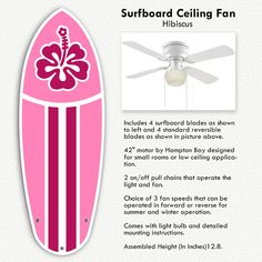 ceiling fan will keep you cool all year. This surfboard ceiling fan ...