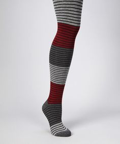 Take a look at this Cabernet Shaded Stripe Tights - Women by MeMoi on #zulily today!