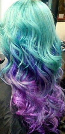Blue Purble Mermaid Hair