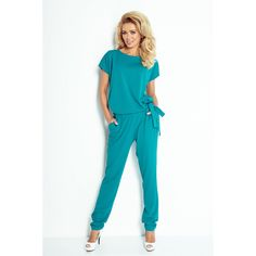 Numoco Green Side-Tie Back-Cutout Jumpsuit Perfect Wardrobe, Fashion Moda, Retro Chic, International Fashion, Little Dresses, Beautiful Lingerie, Madame, Tie Backs, Jumpsuits For Women
