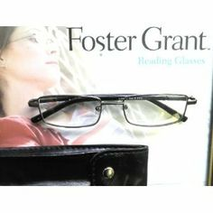 4317a2412a57 1.50 Strength Mens Compact Reading Glasses with Black Leatherette Case by  20 20.  8.99. black full rim quality reading glasses with case. Spring  hinges.