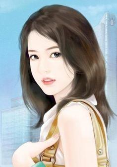 @凉城り采集到橙光现代女手绘(844图)_花瓣插画/漫画