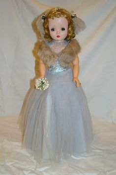 Nice Vintage Original Tagged Cissy 1955 Brides Maid Doll Dress Madame Alexander   eBay